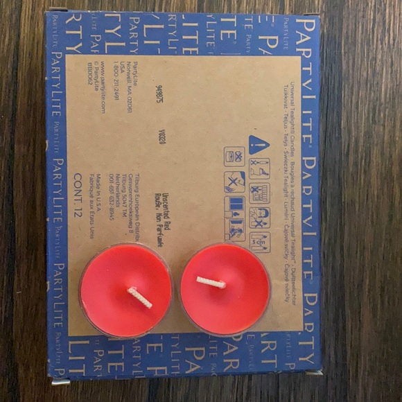 PartyLite 2 boxes of unscented red tealights